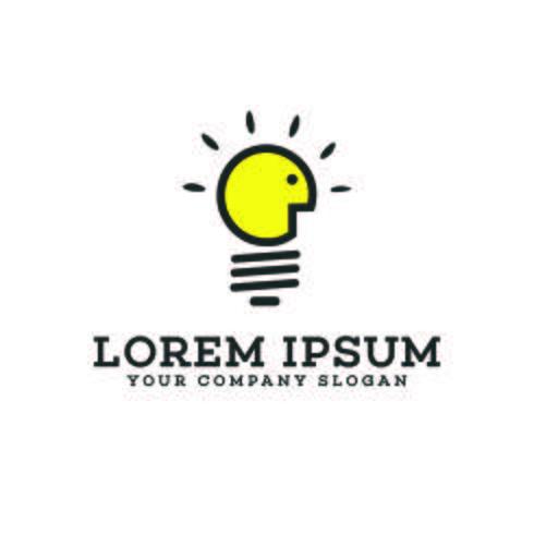 Birnenlicht denken Logodesign-Konzeptschablone vektor