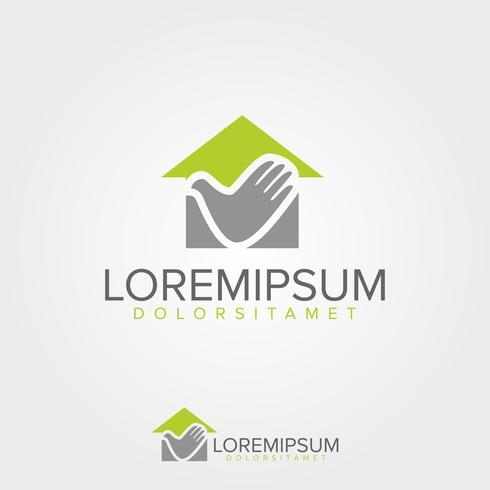 Immobilien-Logo-Design-Vorlage vektor