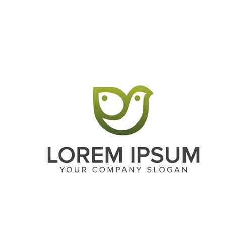 Familienvogel-Logo-Design-Konzept-Vorlage vektor