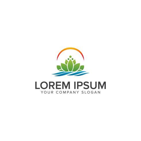 Schönes Lotosblumensymbol. Logo-Design-Konzept-Vorlage vektor