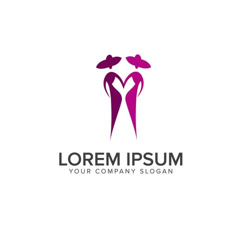 folk mode logotyp design koncept mall vektor