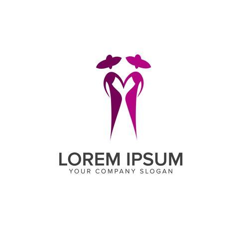 Menschen Mode Logo-Design-Konzept-Vorlage vektor