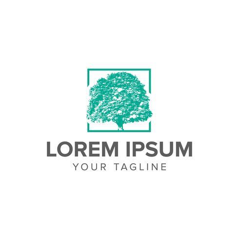 Kreative Luxusbaum-Logokonzept-Designschablonen vektor