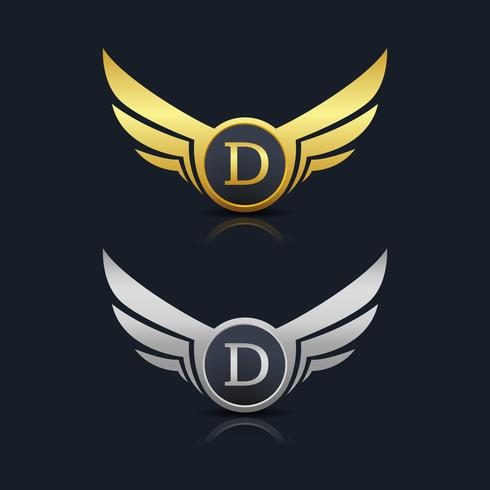 Brev D emblem Logo vektor