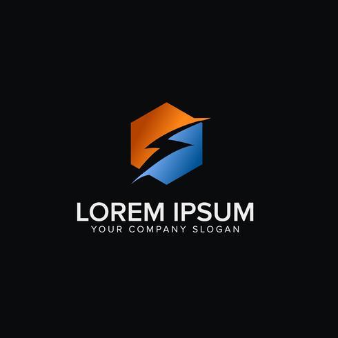 Elektrische Logo-Design-Konzept-Vorlage vektor