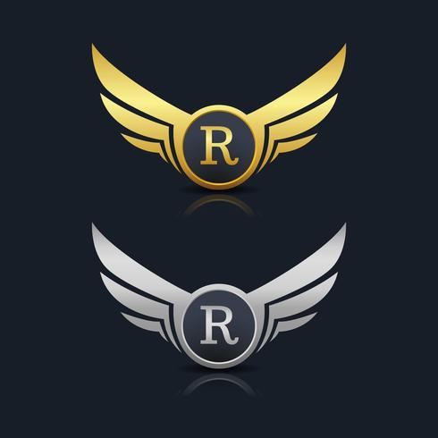 Brev R emblem Logo vektor