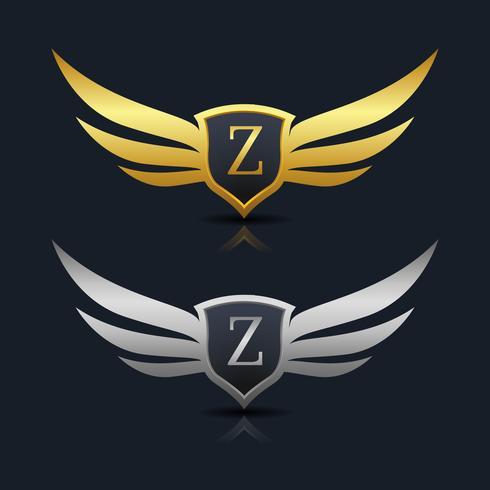 Brev Z emblem Logo vektor