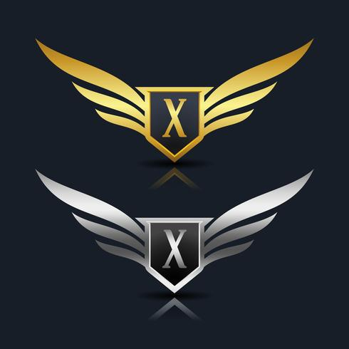 Brev X emblem Logo vektor