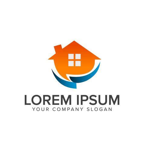 Immobilien-Logo. Architectural Construction Logo-Design-Konzept vektor