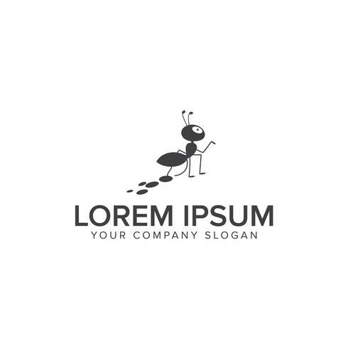 Ameisen-Logo-Design-Konzept-Vorlage vektor