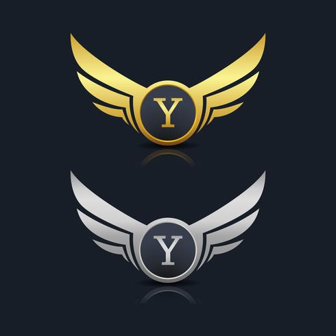 Brev Y emblem Logo vektor