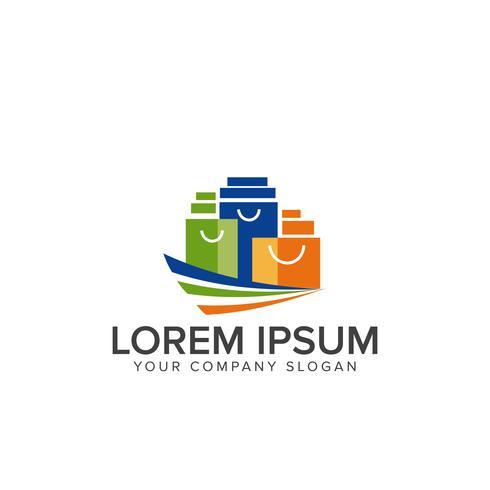 Shoping Bag Logo-Design-Konzept-Vorlage vektor