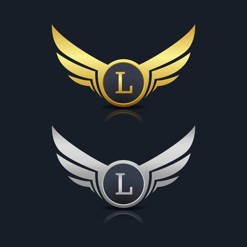 Brev L emblem Logo vektor