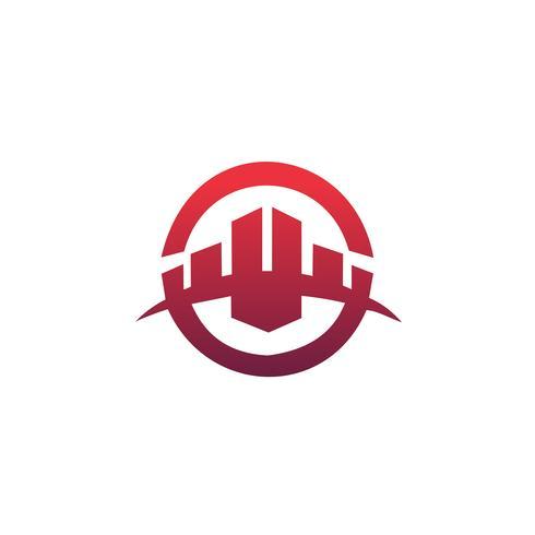 byggnad logotyp design koncept mall. Arkitektonisk Konstruktion vektor