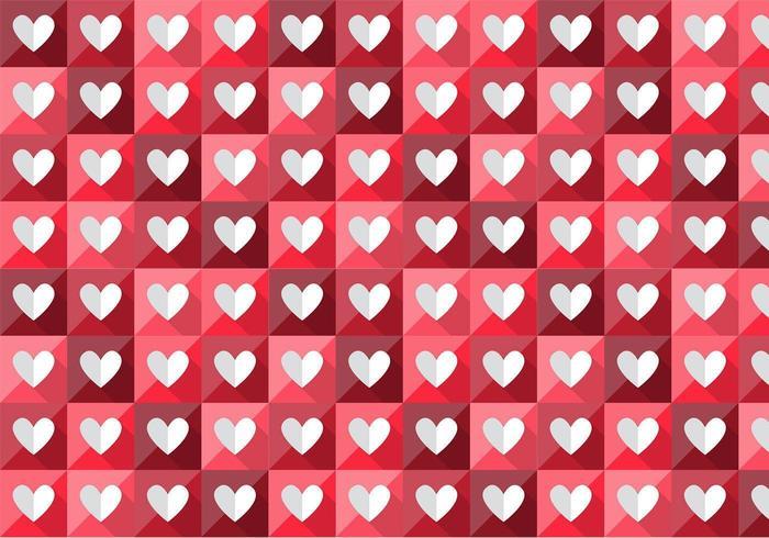 vikta hjärta vektor mönster