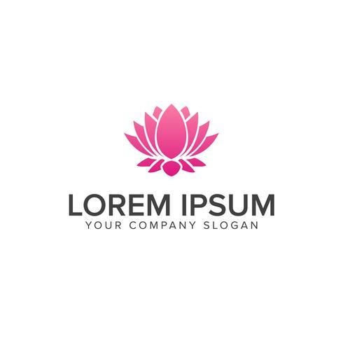 Vacker lotusblomstersymbol. logo design koncept mall vektor