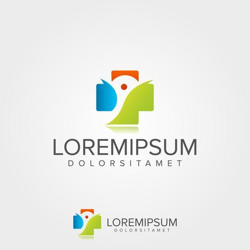 Medicinsk logotypmall vektor