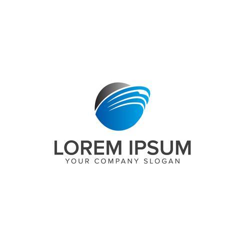 Runda blå logotyp för telekommunikation, kommunikation, networkin vektor