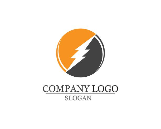 Blitz Symbol Logo und Symbole Vektor Vorlage