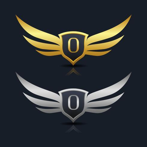 Brev O emblem Logo vektor