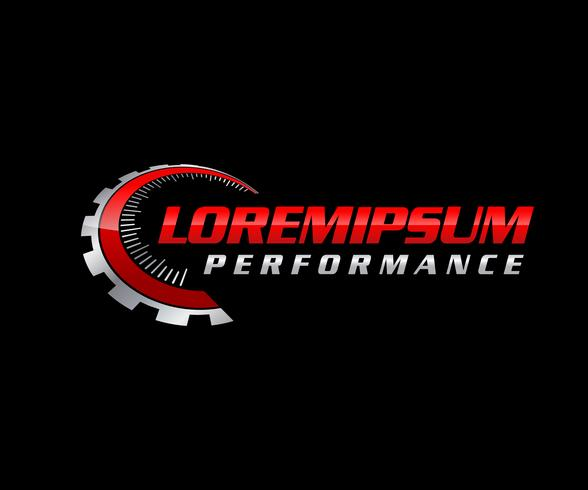 Auto-Performance-Logo vektor