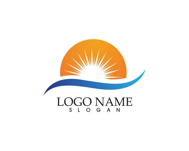 Sun logo och symboler stjärna ikon web Vector -