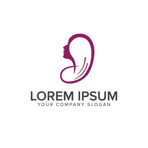 Haarschnitt-Logo-Design-Konzept-Vorlage vektor