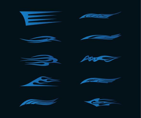 Bil Motorcykel Racing Fordon Grafik, Tribal Vinyler och Dekaler vektor