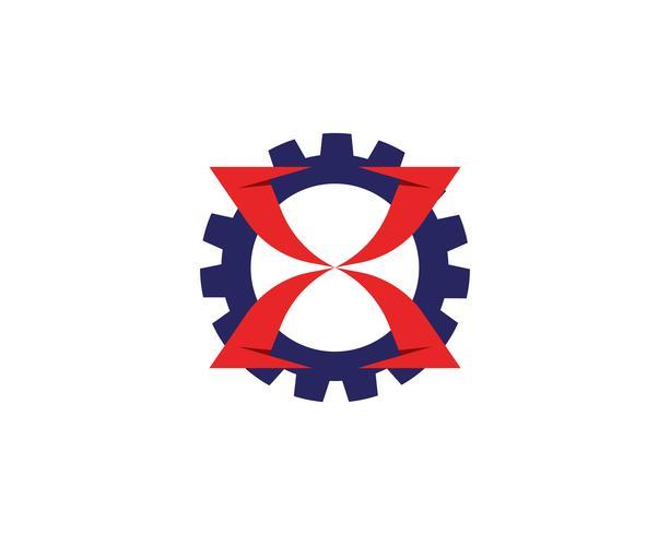 X Logo Mall vektor ikon design