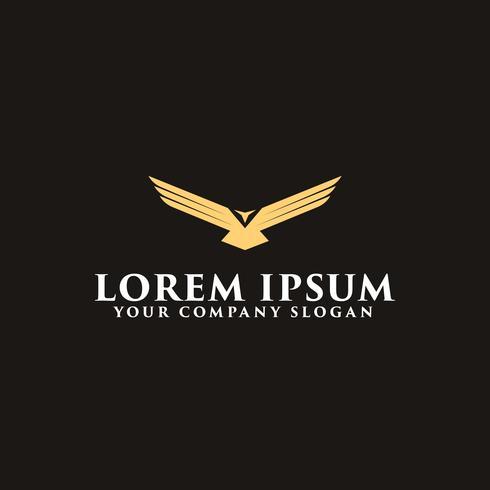 Luxus Flügel Vogel Logo Design-Konzept-Vorlage vektor
