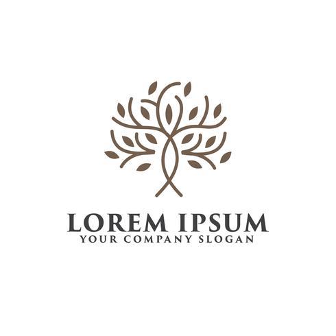 Baum Luxus-Logo-Design-Konzept-Vorlage vektor