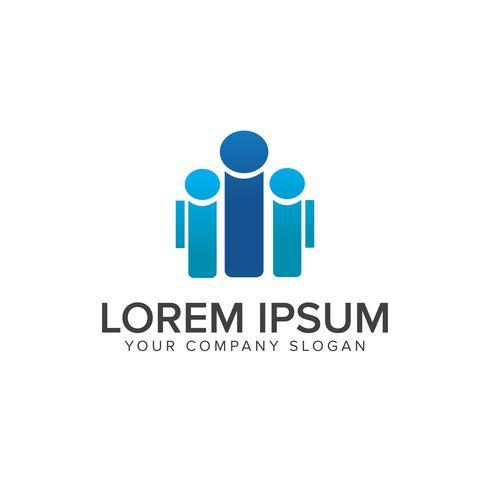 Menschen Business und Consulting-Logo. Teamarbeit Kommunikationsgruppe vektor