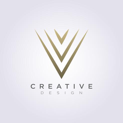 Abstraktes Dreieck-Vektor-Illustrations-Design Clipart-Symbol Logo Template vektor