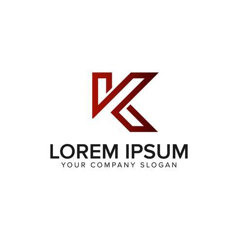 brev K logo design koncept mall vektor