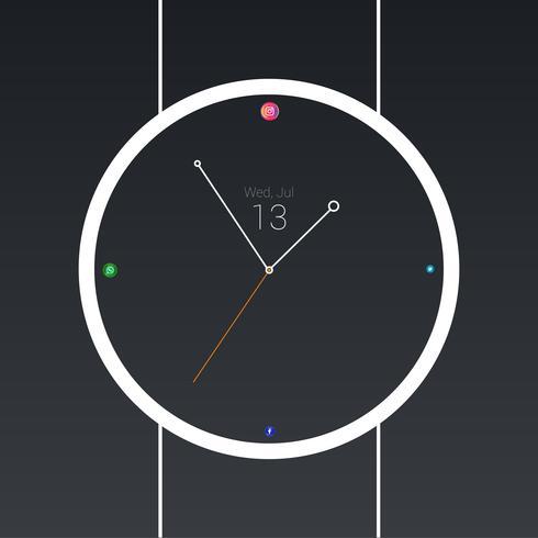 minimal social klocka vektor