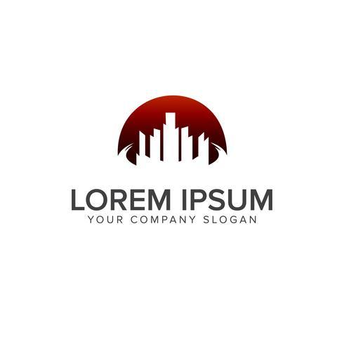 Gebäude Logo-Design-Konzept-Vorlage. Architektonische Konstruktion vektor
