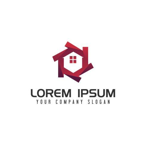 moderna fastighetslogo designkoncept mall vektor