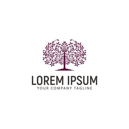 Baum-Logo-Design-Konzept-Vorlage vektor