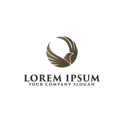 Luxus-Vogel-Logo-Design-Konzept-Vorlage vektor