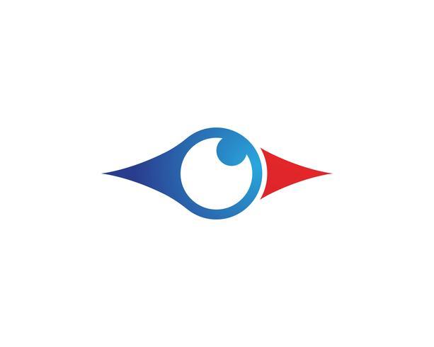 Augenpflegelogo und Symbolschablonenvektor vektor