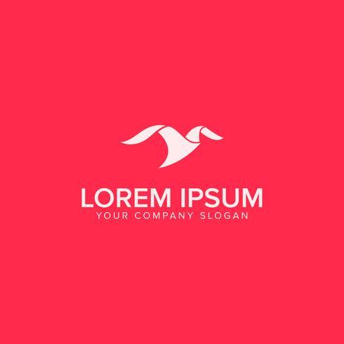 minimalistische moderne Vogellogo-Design-Konzept-Vorlage vektor