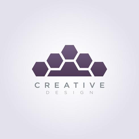 Pelz-Blatt Logo Template Design Vector Symbol-Ikone für Firma