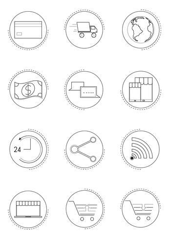 Online-Symbol einkaufen vektor