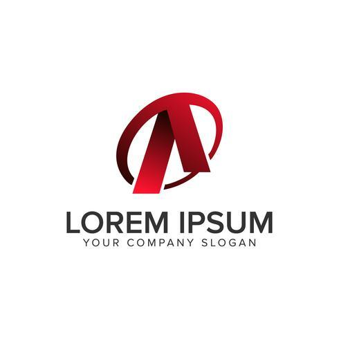 Cative Modern Letter En designkonceptmall för logo. helt redigerbar vektor