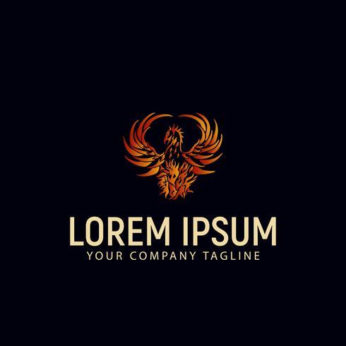 Phoenix Bird Logo Design-Konzept-Vorlage vektor