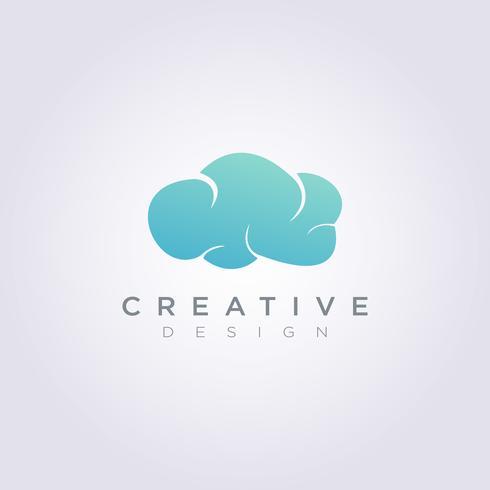 Himmel-Wolken-Wetter-Vektor-Illustrations-Design Clipart-Symbol Logo Template vektor