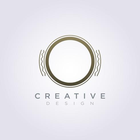 Lyxcirkel Klassisk Vektor Illustration Design Clipart Symbol Logo Mall