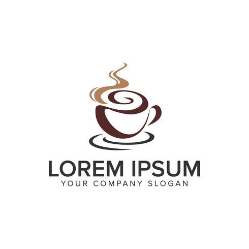 kaffe logotyp design koncept mall. helt redigerbar vektor