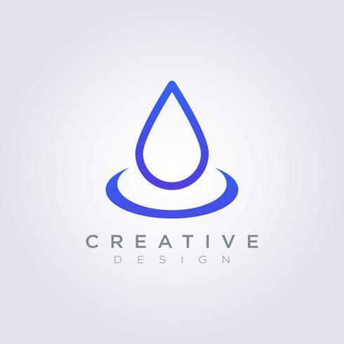 Vatten droppe Vector Illustration Design Clipart Symbol Logo Mall