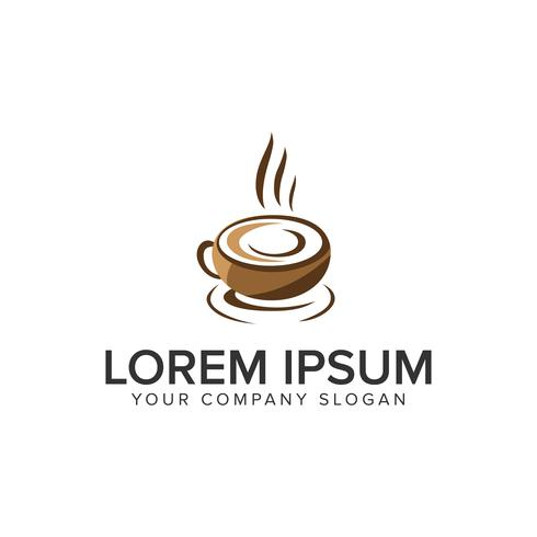 Kaffee-Logo-Design-Konzept-Vorlage. vollständig bearbeitbarer Vektor